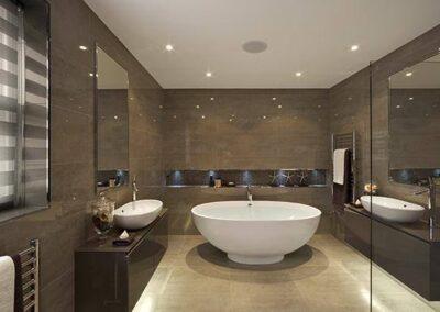 Finition salle de bain luxe