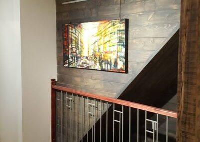 Rénovation intérieur rampe d'escalier
