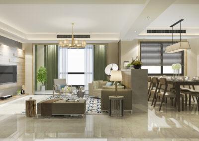 Grans espace maison plancher rénovés