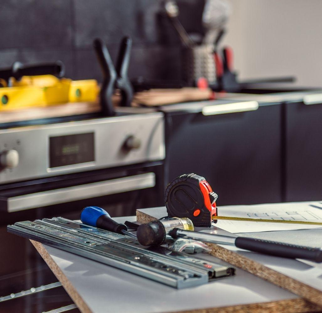 rénovation portes et armoires de cuisine